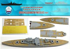 Shipyard 1/700 700097 Wood Deck HMS Batleship Queen Elizabeth 1941 for Trumpeter