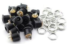 20 Pack 5.5mm X 2.1mm 3 Pin Female DC Power Jack Panel Mount Screw Nut Kit Plug