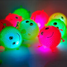 Light Up Balls Smiley Face Ball Spiky Bouncing Ball Soft Rubber Birthday Gift RC