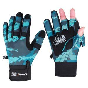 Sport Winter Fishing Gloves 3 Half-Finger Breathable Leather Neoprene PU Equipme