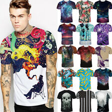 Abstract Art 3D Print Men's women's Casual Short Sleeve Graphic Tee Tops T-Shirt