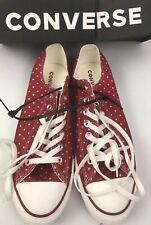 CONVERSE Unisex Chuck Taylor All Star Red Athletic Sneakers Shoes Canvas
