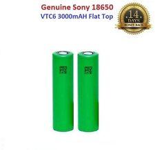 2x Genuine Sony VTC6 18650 3000mAh 15A Flat Top Rechargeable Battery Vape , UK