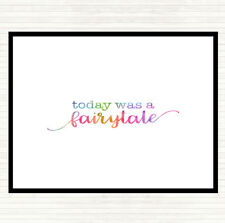 Today Fairytail Rainbow Quote Mouse Mat Pad