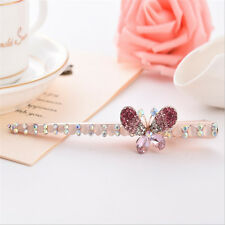 Butterfly Hair Clips Hairpin Hair Pin Rhinestone Crystal Barrette For Lady Girls