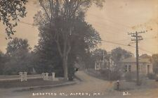 Alfred ME Library on Biddeford St (Now Saco Rd)~Uncle Charles House RPPC 1932