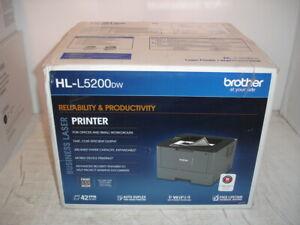 Brother HL-L5200DW Wireless Business Laser Printer with Duplex Printing (NIB)