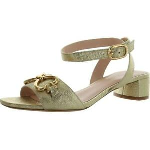 Kate Spade Womens Lagoon Heart Chain Leather Heel Sandals  Shoes BHFO 7825