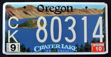"""OREGON """" CRATER LAKE NATIONAL PARK CENTENNIAL OR Specialty Graphic License Plate"""
