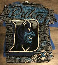 Vintage Duke Blue Devils Shirt 90s Print Rare Size large