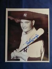 Johnny Mize Signed 8 x 10 Black and White Photo with COA