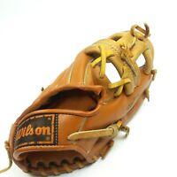Wilson Baseball Glove George Brett Youth Model Leather Right Hand Mitt Pine Tar