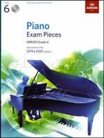 ABRSM Piano Exam Pieces 2019 2020 Syllabus Grade 6 Sheet Music Book and CD