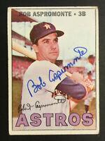 Bob Aspromonte Astros signed 1967 Topps baseball card #274 Auto Autograph