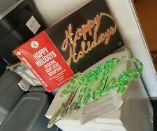 EUC Trim A Home Happy Holidays CHASING ROPE LIGHT SCULPTURE WORKS CHRISTMAS