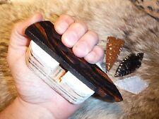 HARD LEATHER HAND PAD Flint Knapping Primitive Knife Ishi Stick Preform Tool