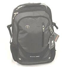 Aoking Nylon Black/grey School Travel Backpack Bag Rucksack fits 15.5 in laptop
