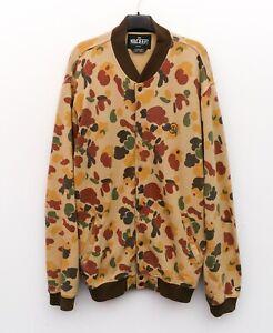 10 DEEP Men's 2XL Varsity Jumper Sweatshirt Cardigan Camo Sweater Cotton Jacket