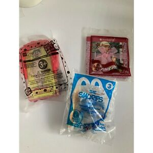 SEALED Lot of 3 McDonald's American Girl Bk Smurfs & Jack in the Box Operation