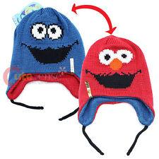Sesame Street Elmo and Cookie Monster Reversible Licensed Laplander Beanie Hat