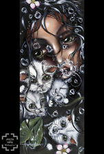 Redemption by Angelina Wrona Fine Art Print Fantasy Cat Gothic Poster 23x34