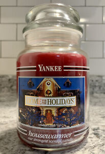 "Yankee Candle ""Home For The Holidays"" 22oz BLACK BAND FREE SHIPPING"