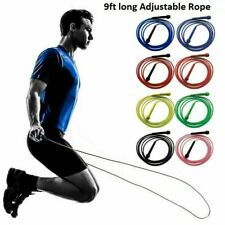 Skipping Rope Adjustable Jump Boxing Fitness Jumping Speed Rope Adult Kids UK