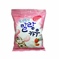 LOTTE Malang Cow Soft Strawberry Milk Chew-able Candy Marshmallow 158g NEW
