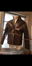 Vintage Brown Faux Shearling Jacket Mens' Size M