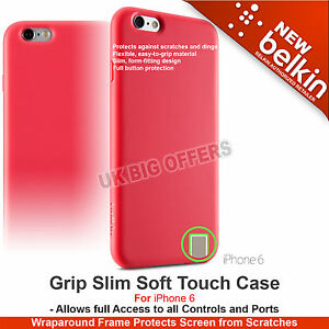 Belkin Grip Slim Case Soft Touch for iPhone 6 Pink High Quality F8W604btC02