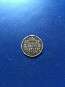 1887 Canadian Silver 5 Cents, No Reserve!