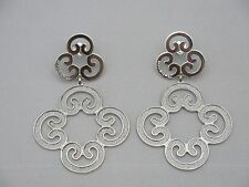 Rebecca Earrings from Louis XIV Collection in Stainless Steel