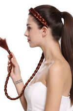 Haarteil Zopf Haarreif geflochten super lang Tracht Dunkel Kupferrot N1038-350