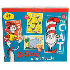 Dr Suess 4 In A Box 12/16/20/24 Piece Jigsaw Puzzle