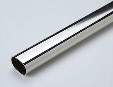 Schrankrohr oval 900mm 22x15mm vernickelt (6202)