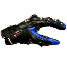 NEW Motorcycle Motocross MX BMX ATV Dirt Bike Racing Leather Gloves Blue M L XL
