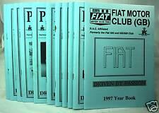 Parliamo - Fiat Motor Club (GB) Magazine -1997 Part Set