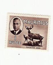 mauritius GVI defin 1 rupee mint.