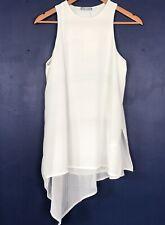 ZARA *BRAND NEW* Ivory Layered Tunic Top Sleeveless Medium (J1)