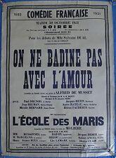 1931 Molière-Rare Vintage Poster-francés Teatro-comedia-AFFICHE-plakat