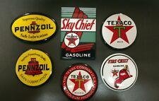 GAS / OIL.... Texaco & Pennzoil.....6 refrigerator magnets