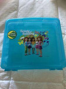 Lego Friends Beauty Of Building Portable Project Storage Carry Case -Aqua