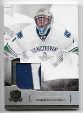10/11 THE CUP BASE GOLD GAME USED PATCH #5 Roberto Luongo #9/10 2CLR