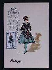 SPAIN MK 1967 COSTUMES BADAJOZ TRACHTEN MAXIMUMKARTE MAXIMUM CARD MC CM c6052