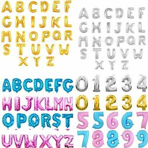 Foil Numbers Letters Happy Birthday Balloons Party Decorations Banner Bunting