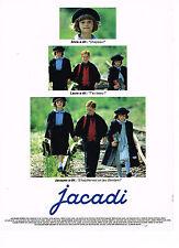 PUBLICITE ADVERTISING 064  1989  JACADI  vetements enfants