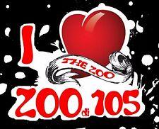 ADESIVO (I LOVE THE ZOO DI 105) FONDO NERO