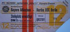 TICKET BL 1976/77 FC Bayern München - Hertha BSC