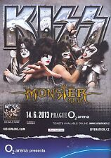 "KISS ""MONSTER TOUR 2013"" PRAGUE CONCERT POSTER-Hard Rock, Heavy/Glam Metal Music"