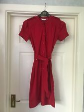 Ladies / Girls Vintage Topshop red dress size 8 button up VGC